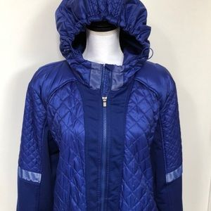 ATHLETA Puffer Jacket Royal Blue Sz 2X - EUC